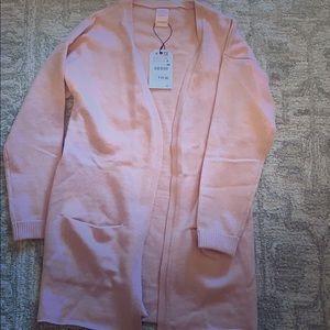 Pink cardigan from Zara